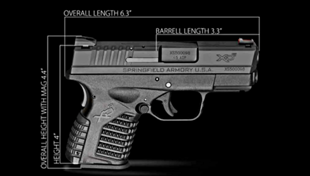 Springfield XDS .45 ACP Handgun Specs | RIGHT TO BEAR ARMS ...