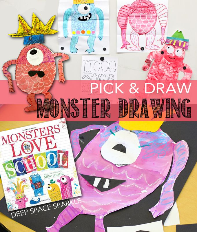 Monsters are always a popular subject for my youngest art students. My go-to monster lesson for...
