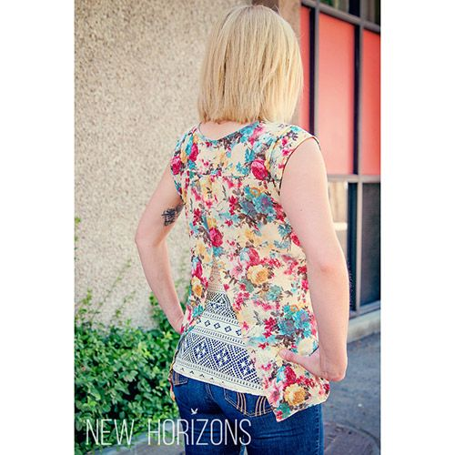 New Horizons Designs Bali Blouse Sunset Cami Sewing Pattern Blouse Sewing Blouses Clothes