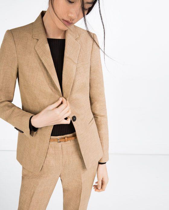 Image result for zara beige linen jacket