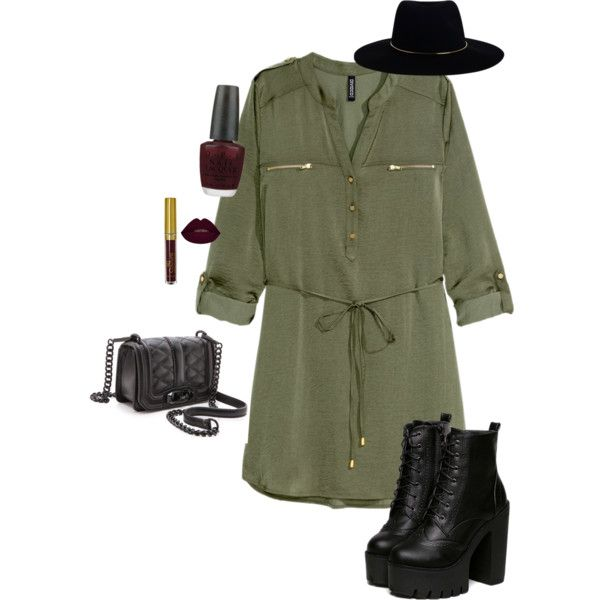Military chic by tina-pencinger on Polyvore featuring polyvore, fashion, style, H&M, Rebecca Minkoff, Zimmermann and OPI