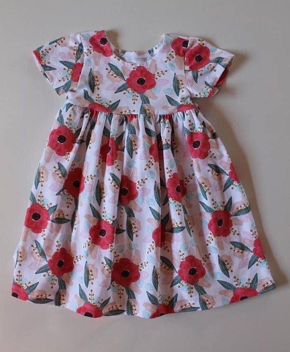 UK Toddler Girls Easter Floral Dress Princess Bunny Print Party Dresses Sundress