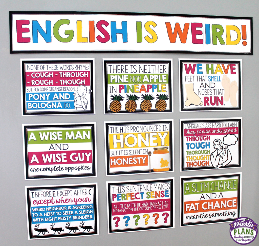 English Is Weird Posters