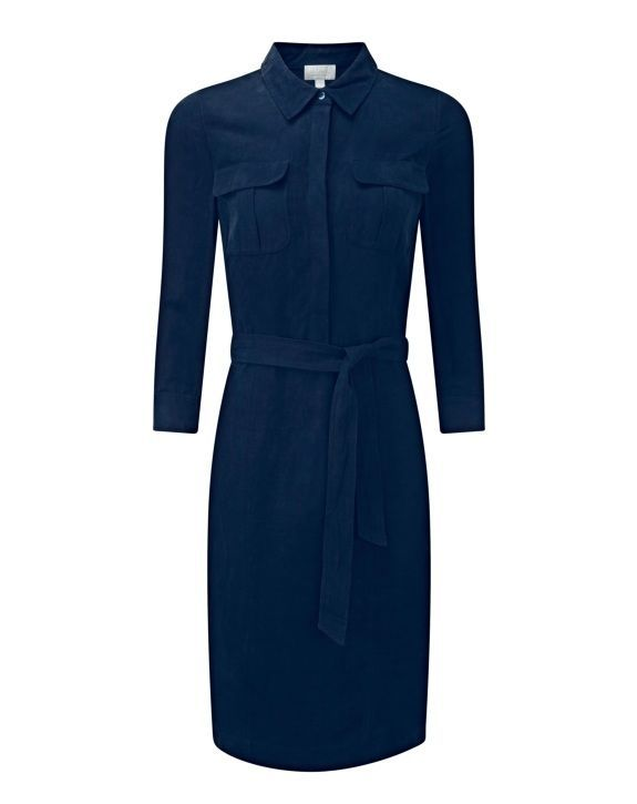 ea28d7ddba2b4 Pure Collection Navy Blue Silk Linen Shirt Dress Size UK 10 RRP 149 Box46  66 E  fashion  clothing  shoes  accessories  womensclothing  dresses (ebay  link)