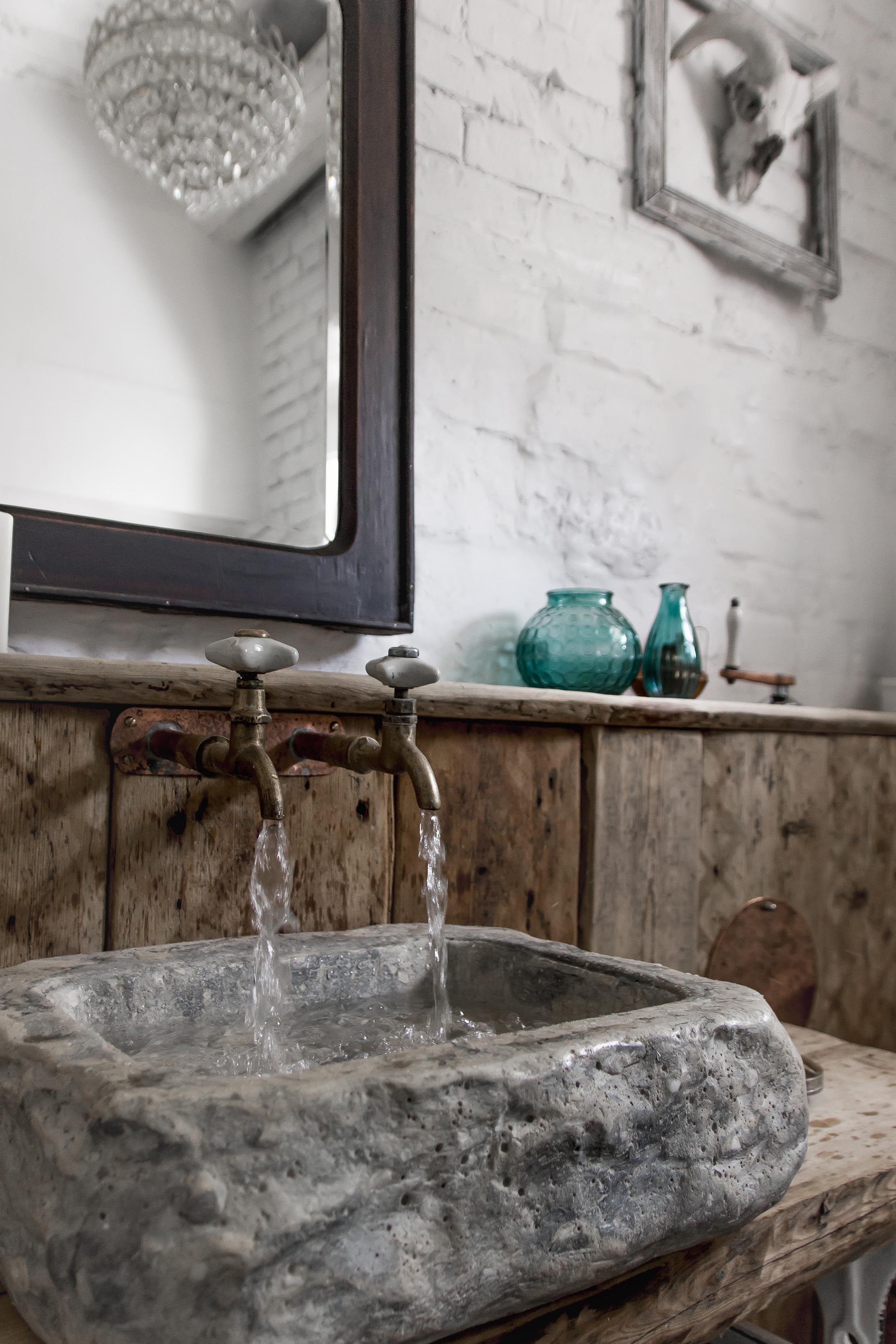 bathroom, loft, vintage
