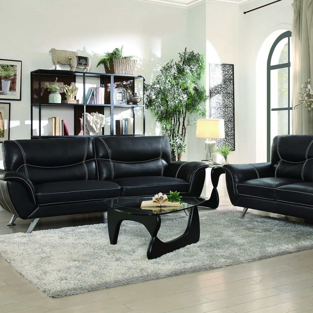 Best Badcock More Jambul Black Sofa Loveseat 400 x 300