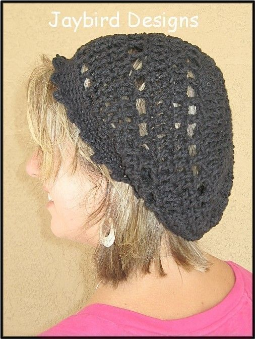 Pattern Retro Rings Crochet Tam Slouchy Hat By Jaybirddesigns 200