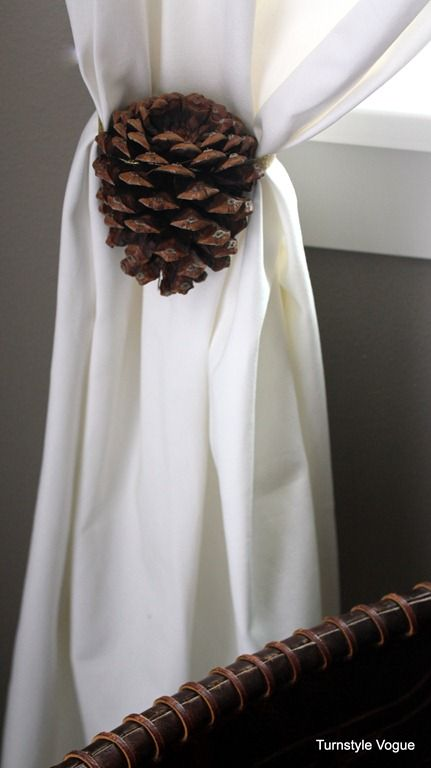 Pine Cone Curtain Tie Back Christmas Pinterest Curtain Ties