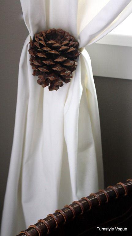 Pine Cone Curtain Tie Back