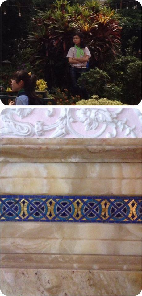 Church nha tho tan dinh Vietnam cool  scrub and awesome geometric stone mosaic