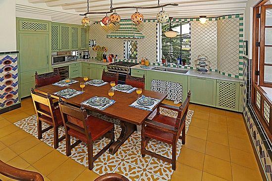 Whimsey Meets Spanish Revival Kitchen Traditions In Santa Barbara.