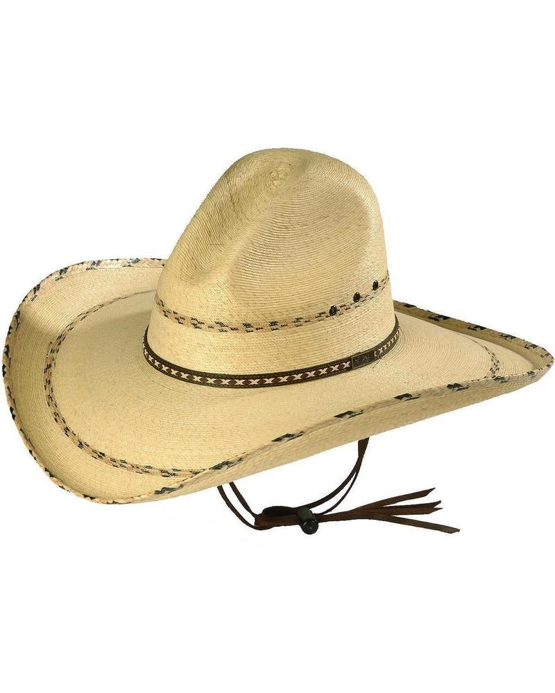 MS 7681PNCO Larry Mahan 30X Pancho Gus Palm Straw Western Hat
