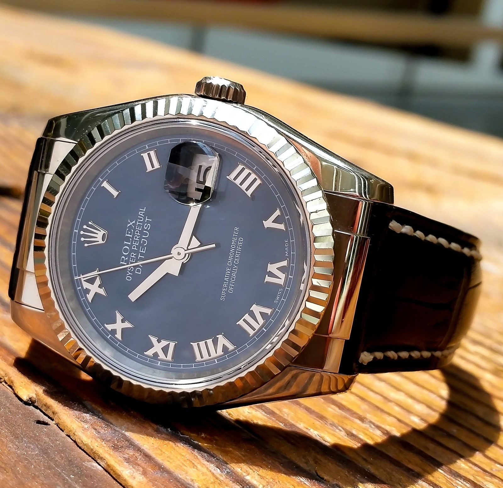 Rolex Datejust Stainless Steel, 36mm, 18k White Gold ...