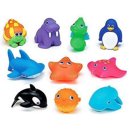 Set of 20 lovely Animal Seated Rubber Elephants Baby Bath toys Blue