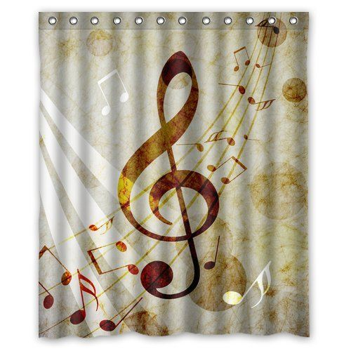 Music Note Soft Shower Curtain Curtains Fabric Shower Curtains