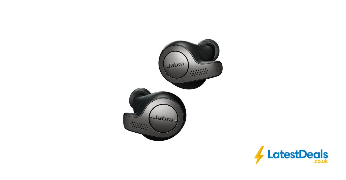 Jabra Elite 65t Wireless Bluetooth Headphones Titanium Black 125 At Currys Pc World Bluetooth Headphones Wireless Bluetooth Headphones Headphones