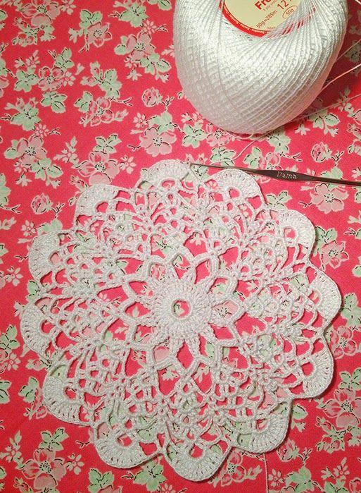 Fina carpeta con patrón y paso a paso en fotos   Crochet y Dos ...