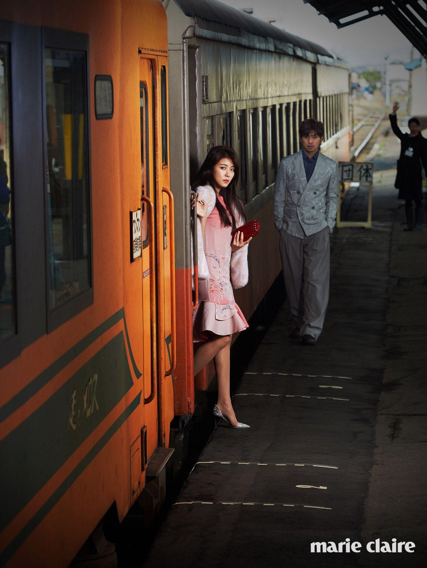 Ha Ji-won & Chen Bo-lin // Marie Claire Korea