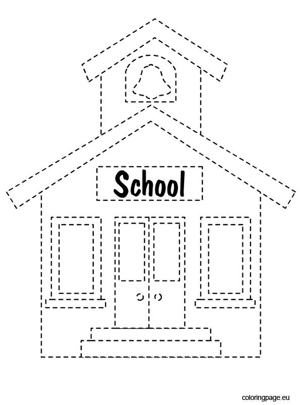 you searched for school house coloring page - School House Coloring Page