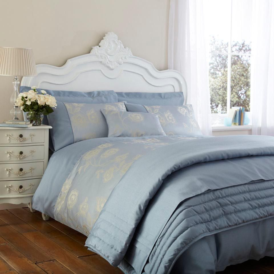 Valencia Powder Blue Bedding Collection (from £42.94) - 50% Polly on curtains with green, home decorating with green, pink with green, home office with green, art with green, books with green, bedroom paint color ideas for small rooms, small bedroom ideas green, interior decorating with green, rugs with green, teen bedroom ideas with green, minimalist living room with green, fabrics with green, decorate with green, home decorators with green,