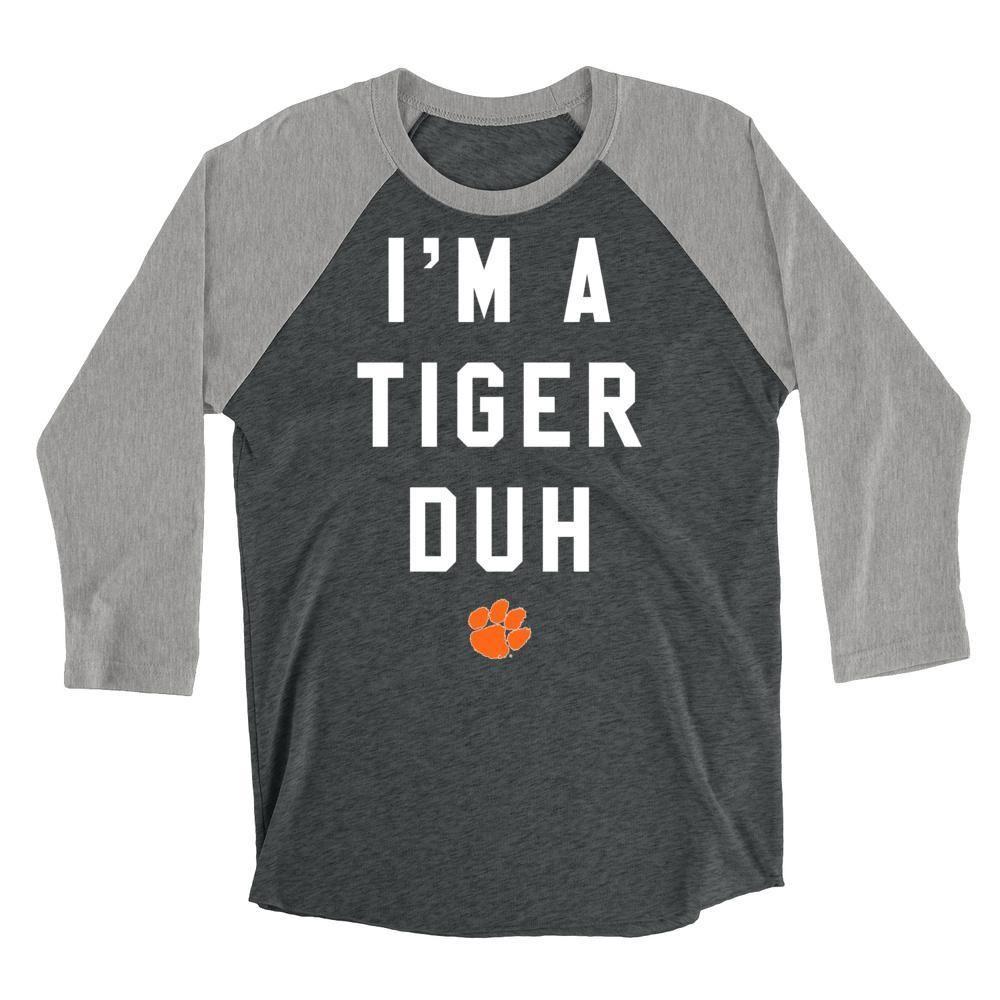 Official NCAA Clemson Tigers - H18CL Mens   Womens Boyfriend Triblend Raglan 6498a08b8