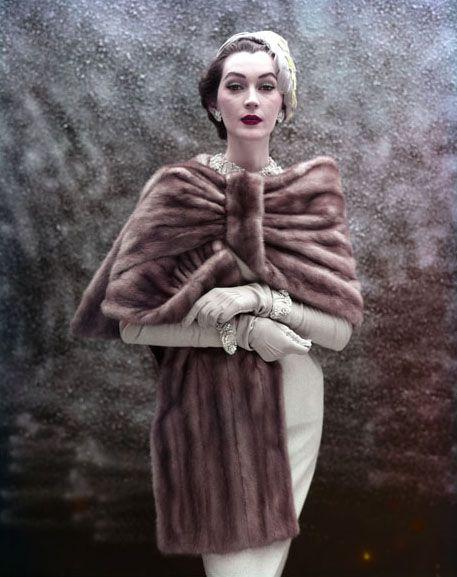 Dovima, 1953  Photo by Virginia Thoren