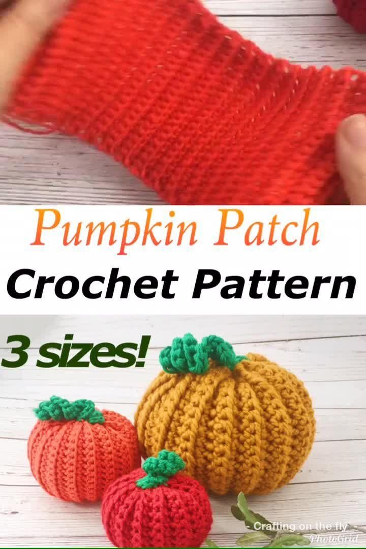Easy Pumpkin Patch Crochet Pattern - Crafting on the Fly