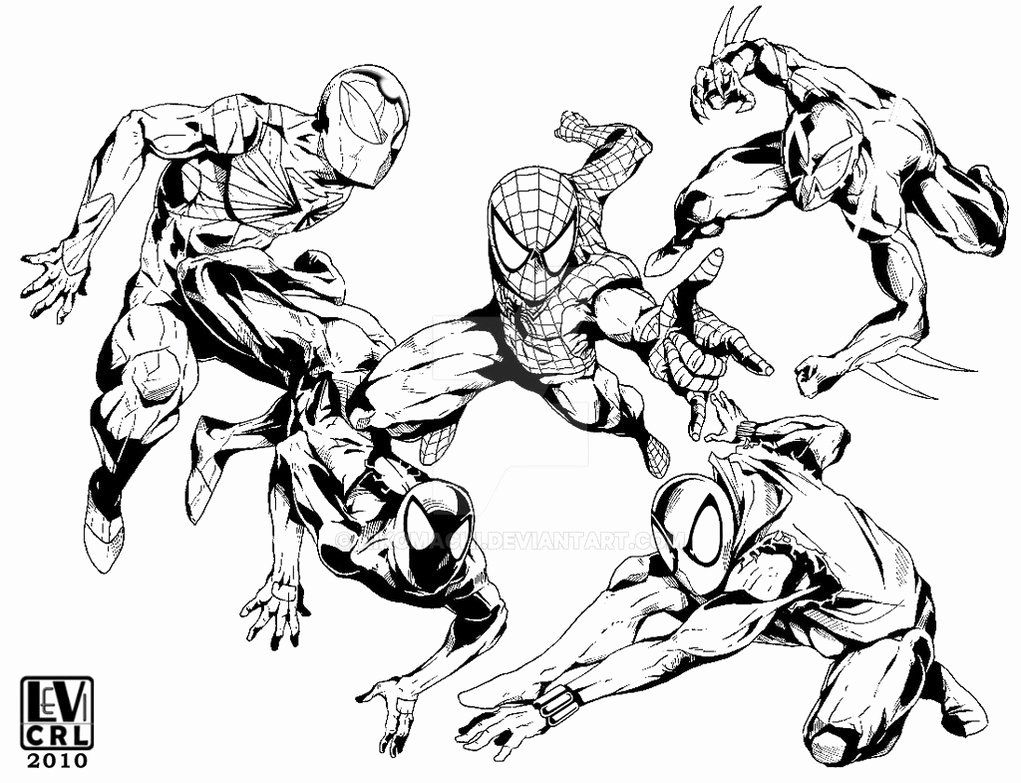Miles Morales Coloring Page New Spiderman From 2099 ...
