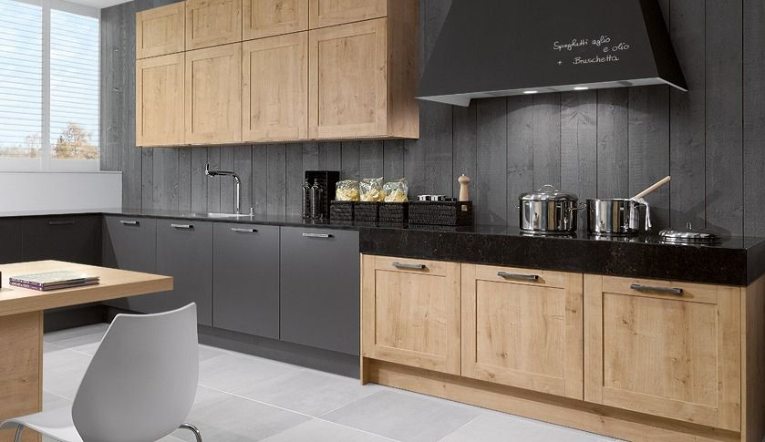 Medium image of arlington oak wood kitchen in a timeless shaker style
