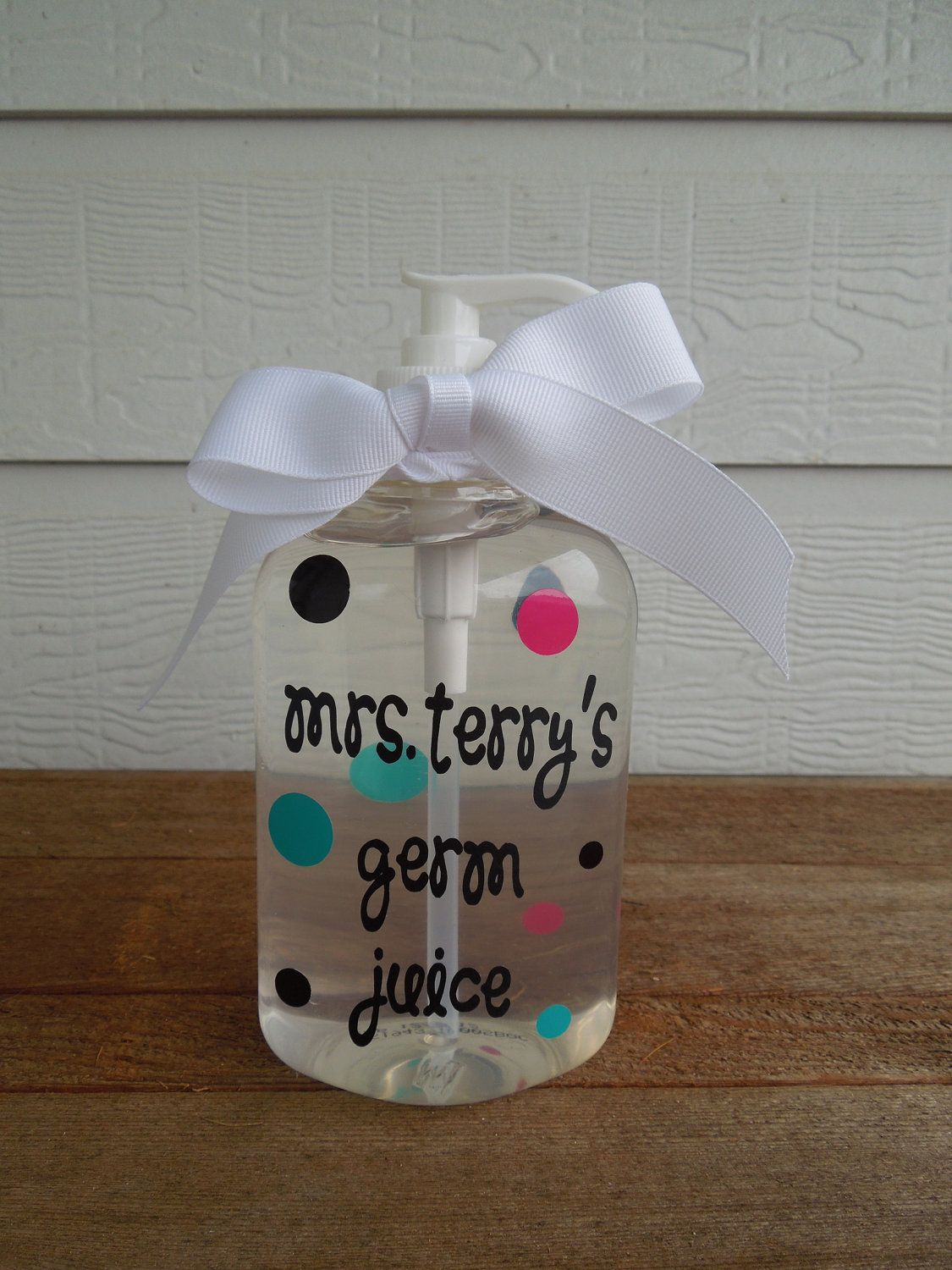 This would make a great teacher Christmas or birthday gift! Germ ...