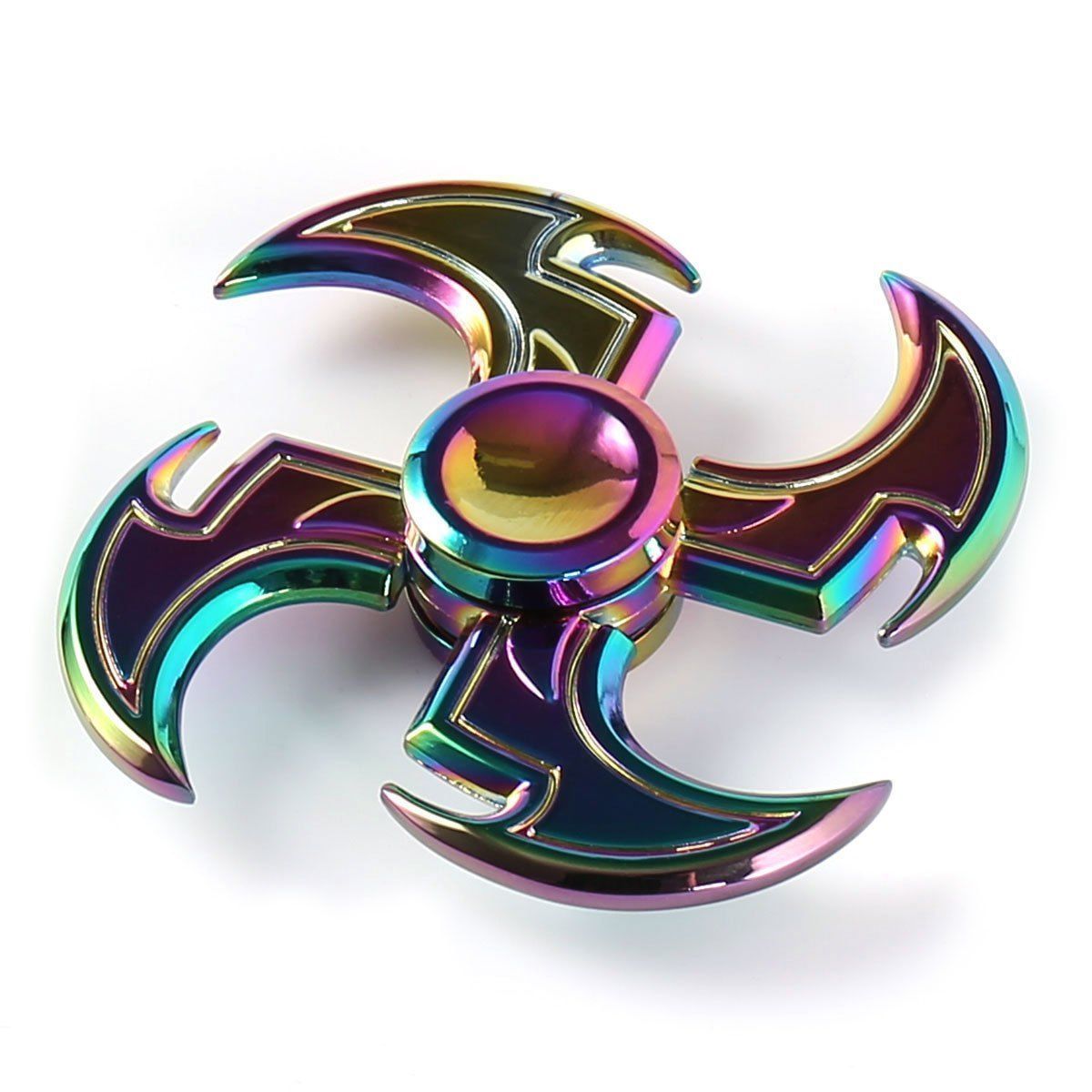 RARE Amazing Fidget Spinner Rainbow Metal Hand Finger Toy Adult Or Kids