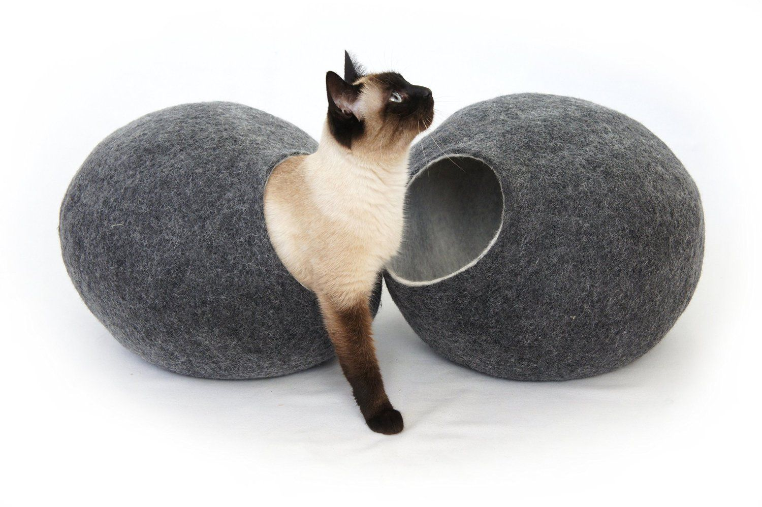 Cat Bed House Cave Nap Cocoon Igloo 100 Handmade From Sheep