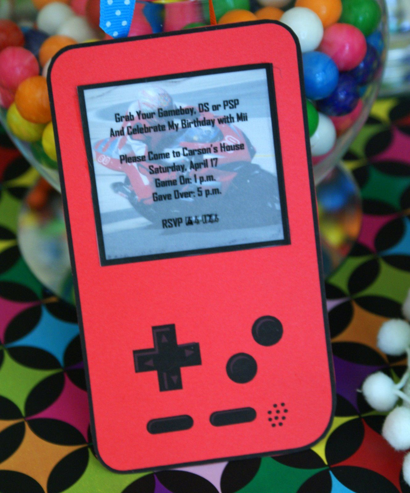 Fancy Video Game Party Invitations Motif - Invitations and ...