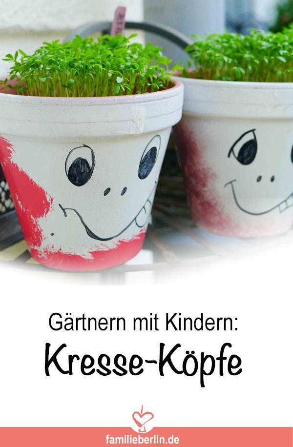 Photo of Gärtnern mit Kindern: Blumentopf-Gesichter mit Kresse | https://familieberlin.de
