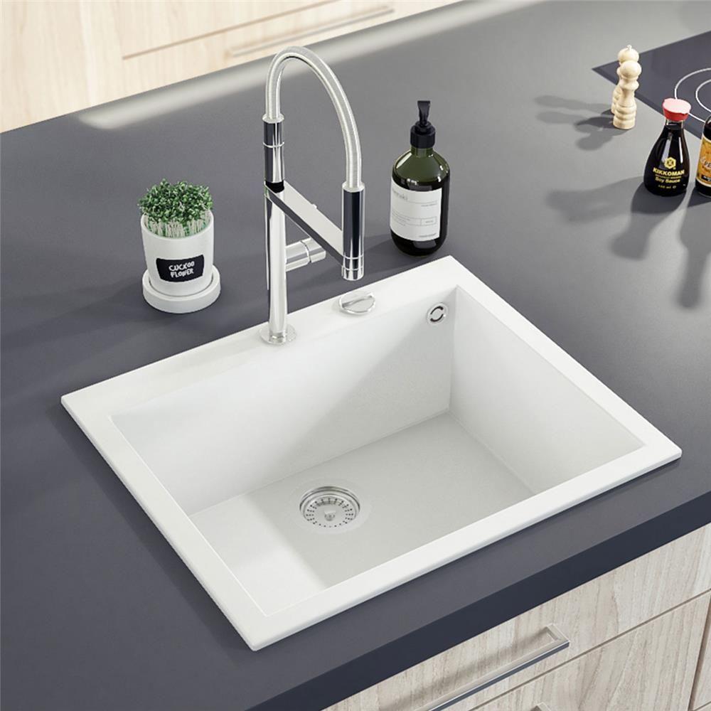 évier Granit Blanc Ewi Urbia 1 Bac 610x500 Cuisine Blanche