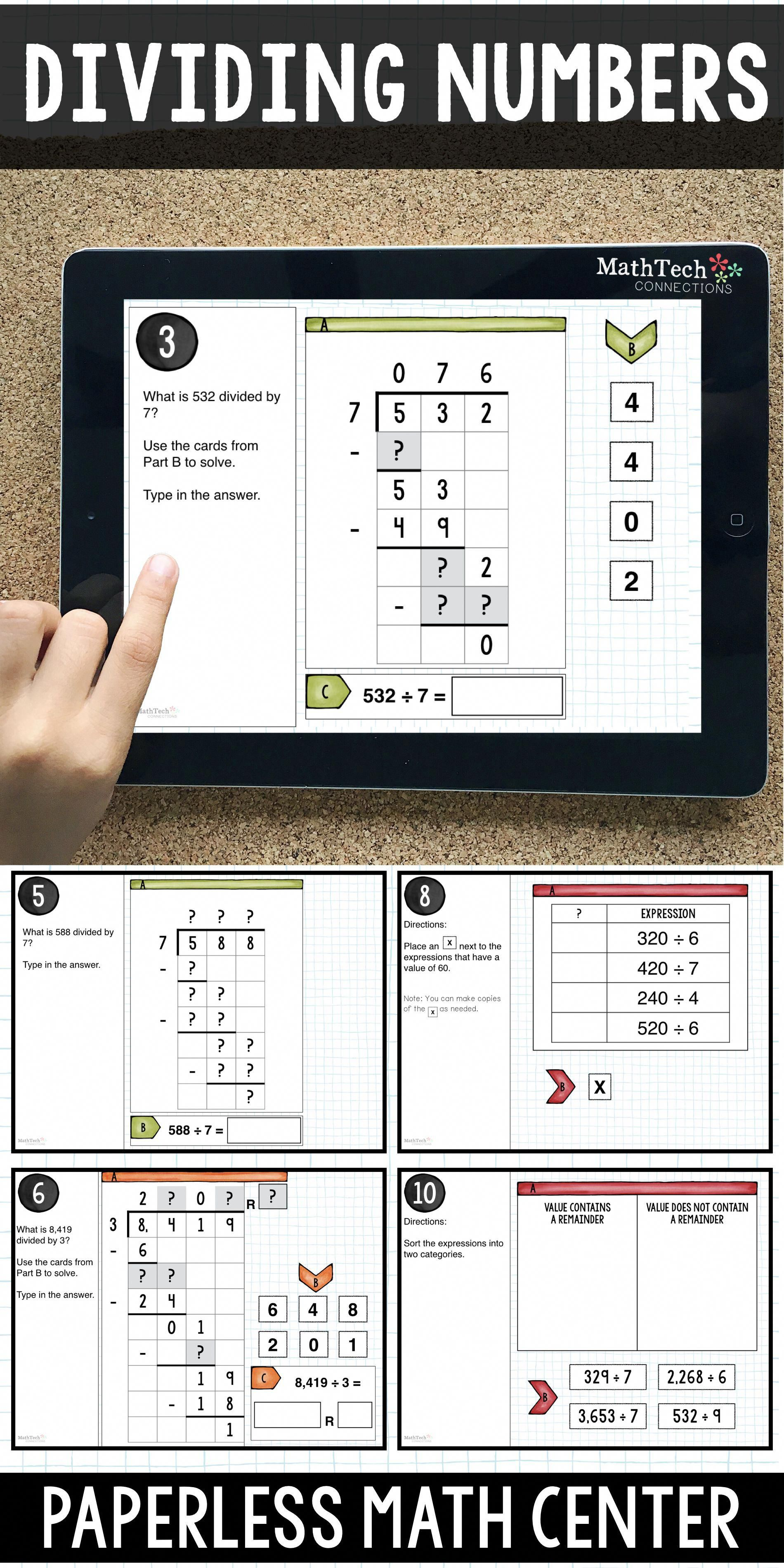 4th Grade Division With And Without Remainders Interactive