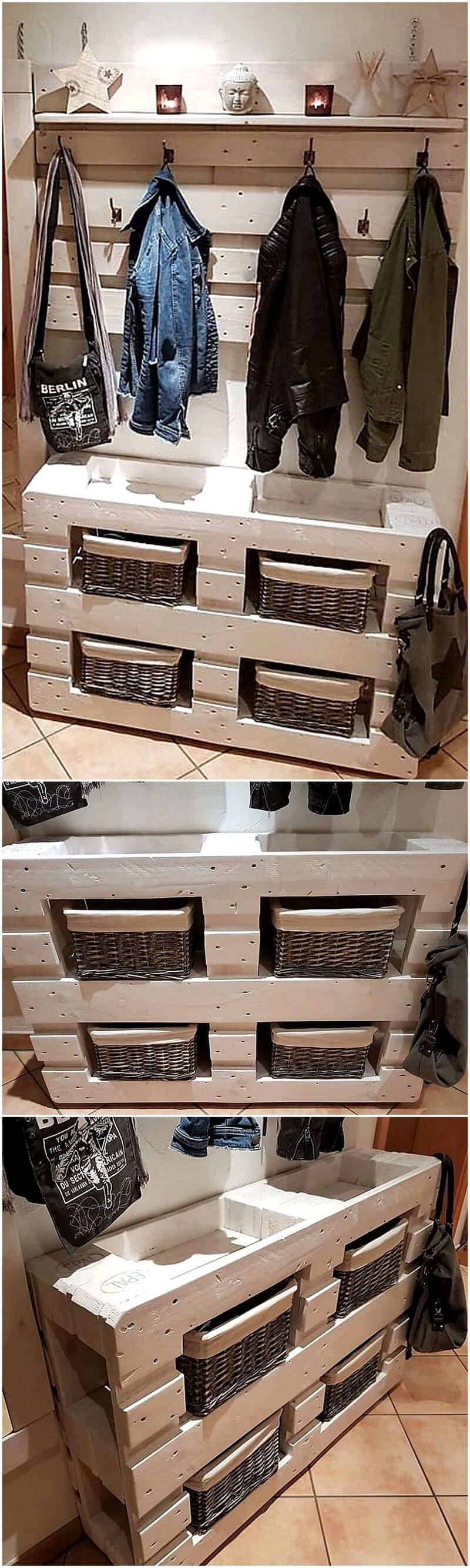 Awesome DIY Ideas to Refurbish Wood Pallet #oldpalletsforcrafting