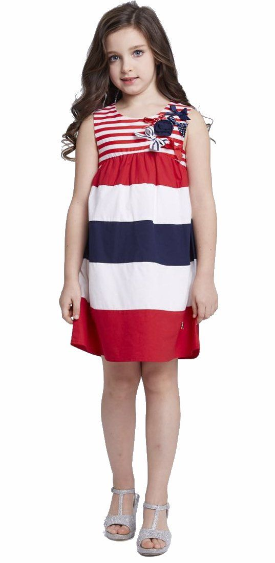 6da19e333 Smapavic Sundresses for Kids Multicolor Striped Bowknot Flare ...