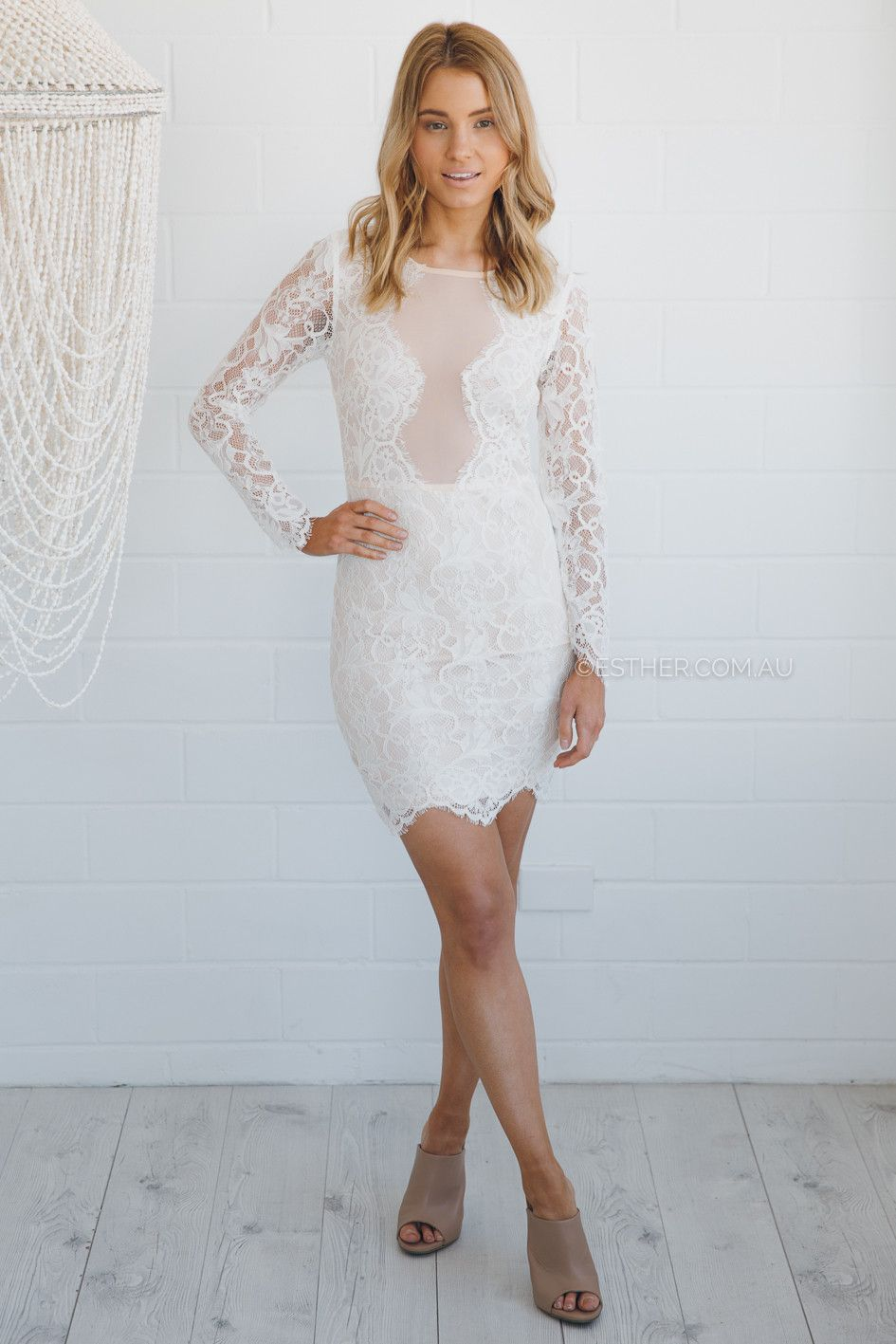 ollie lace dress - ivory   Esther clothing Australia and America USA ...