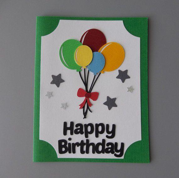 Birthday Card With Balloons Friend Birthday Card Happy Birthday Greeting Cards Cute Birthday Card Handmade Cards Kids Birthday Card In 2021 Birthday Card Craft Greeting Cards Handmade Birthday Handmade Birthday Cards