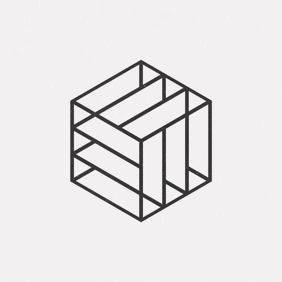 """Résultat de recherche d'images pour """"motif cube 3d logo minimaliste"""""""
