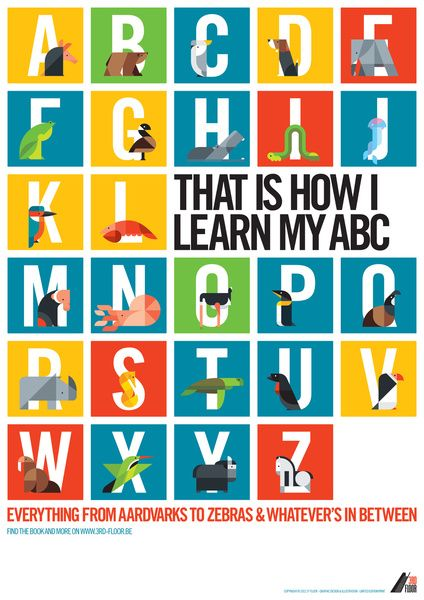 $14.56 Love this poster for D's new room: Animal Alphabet Overview Art Print
