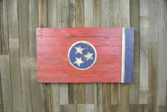 Tennessee has such a unique flag. When I first got this as a custom order, I did a little research like I always do. It turns out the three stars represent the three Grand Divisions of the state, East Tennessee, Middle Tennessee, and West Tennessee. The blue circle around the stars represents the