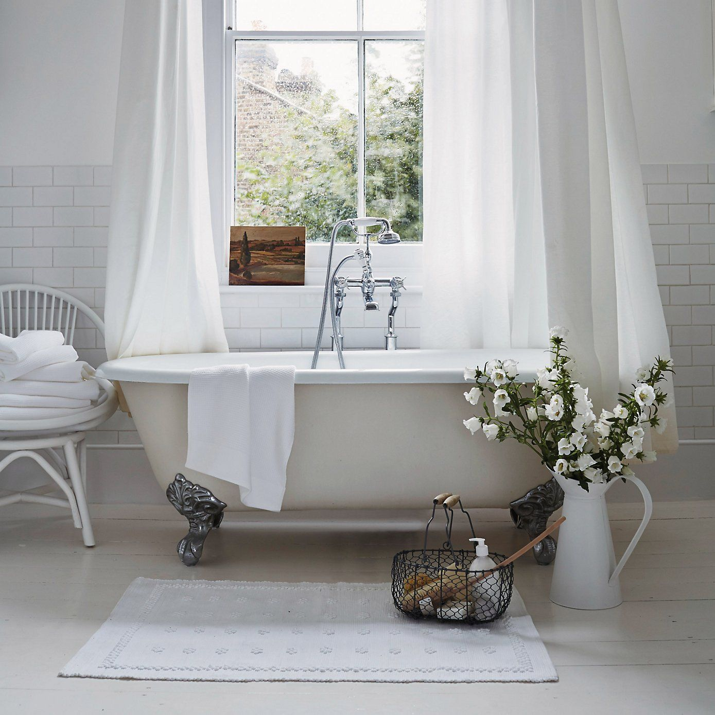 Store bathroom clutter in a decorative basket | The White Company ...