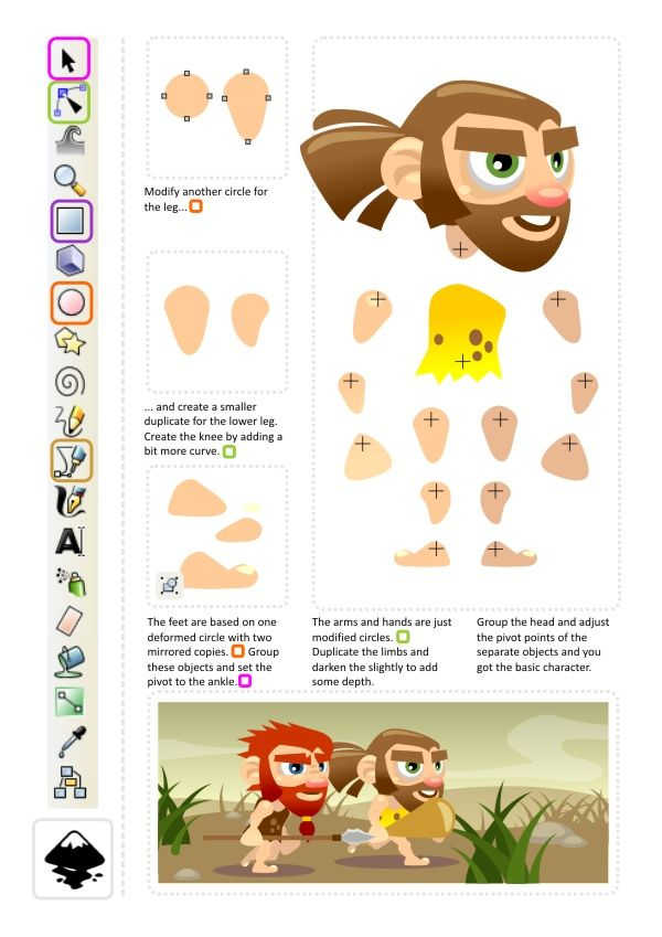 2d Animation Character Design Tutorial : D game art for programmers character animation