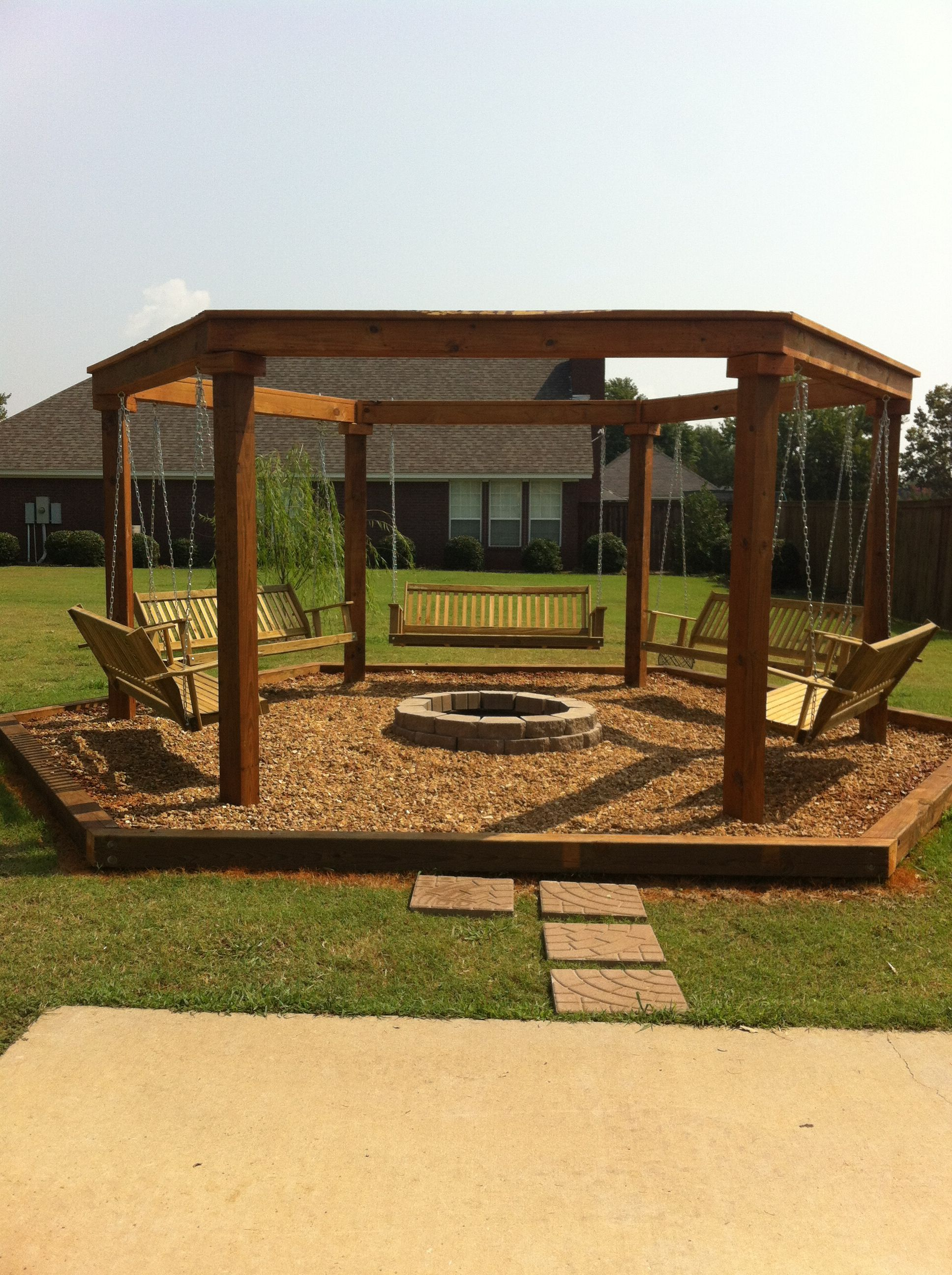 outdoor fire pit with swings fire pit ideas pinterest outdoor