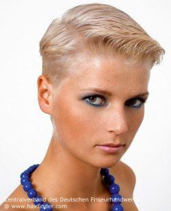 Very short haircut with gel styling. Blonde hair. | Hair ...