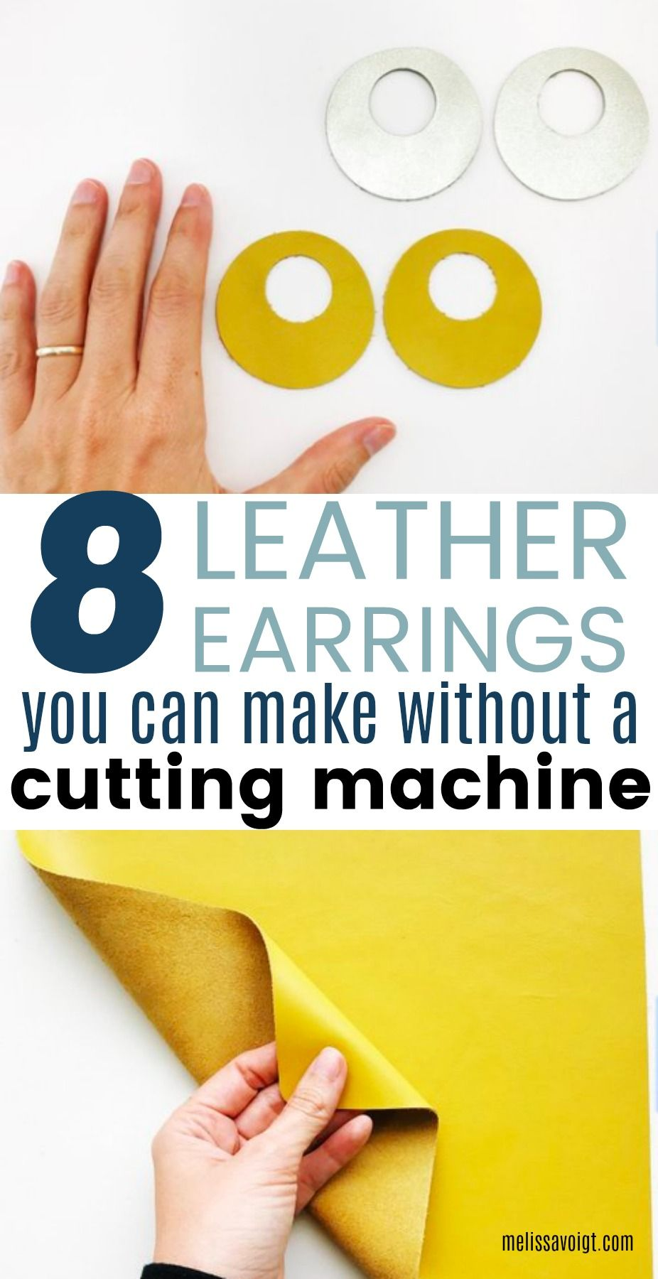 Photo of HOW TO MAKE YOUR OWN LEATHER EARRINGS WITHOUT A CUTTING MACHINE — Melissa Voigt