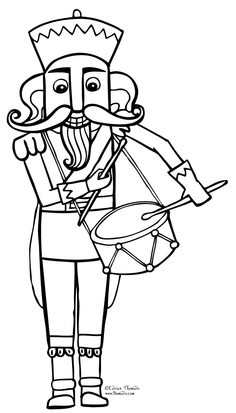 Free Nutcracker Coloring Page Christmas Coloring Sheets