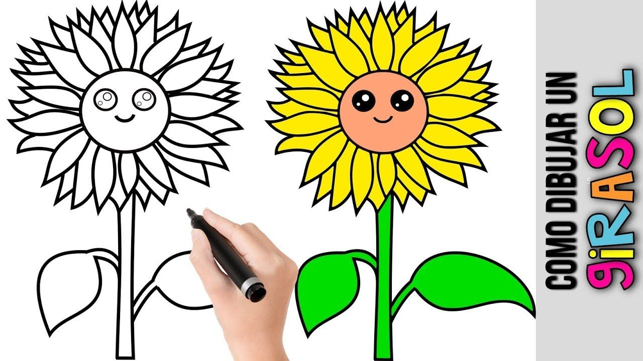 Girasol Dibujos Tutorial Como Dibujar Y Pintar Dibujos Faciles